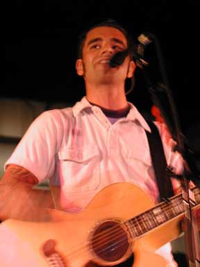 Dashboard Confessional live at Coral Sky Amphitheatre in West Palm Beach on Oct. 1, 2002
